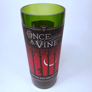 Once Upon A Vine Big Bad Red Blend 2015 Hand Cut Upcycled Wine Bottle Candle - Choose Your Scent