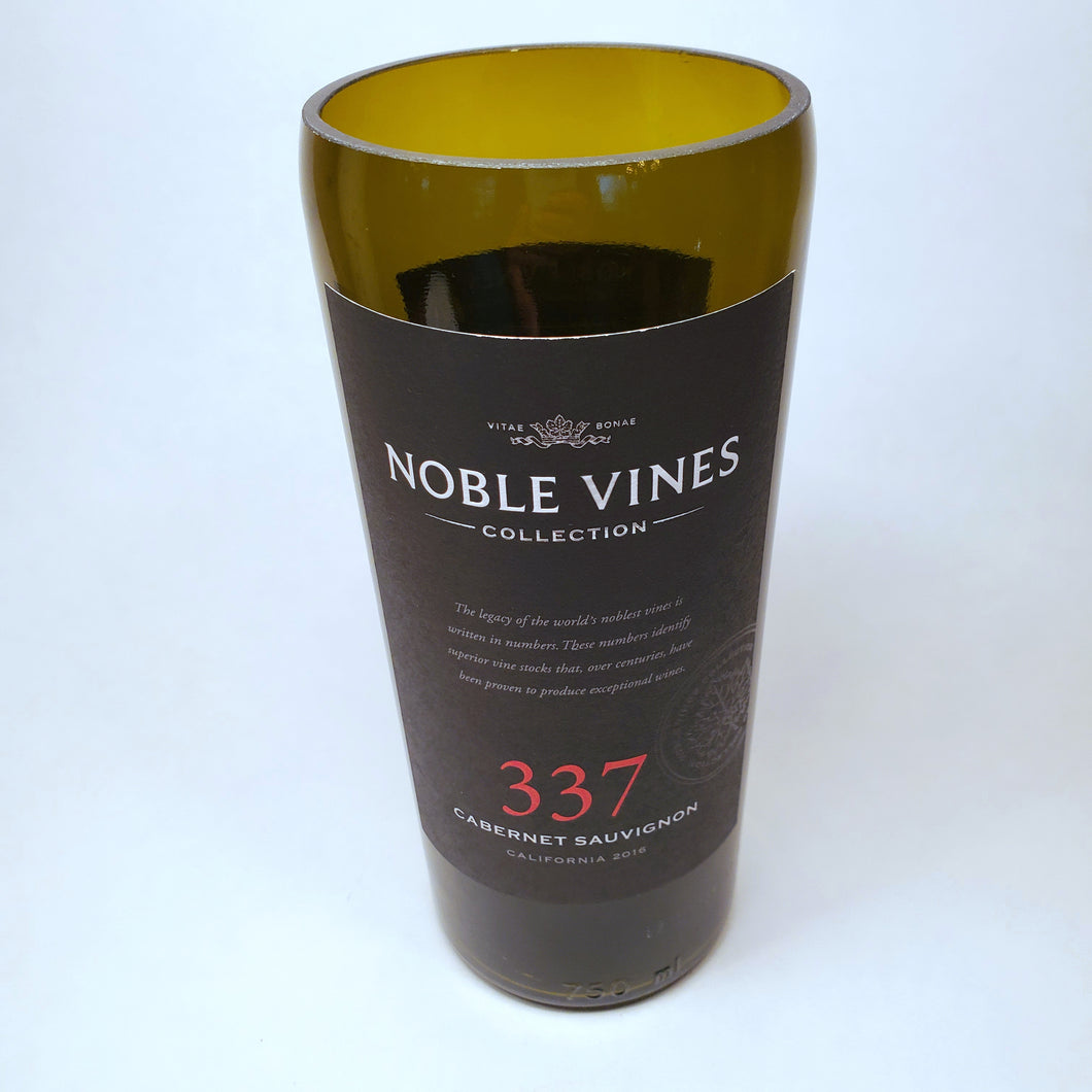 Noble Vines 337 Cabernet Sauvignon Hand Cut Upcycled Wine Bottle Candle - Choose Your Scent