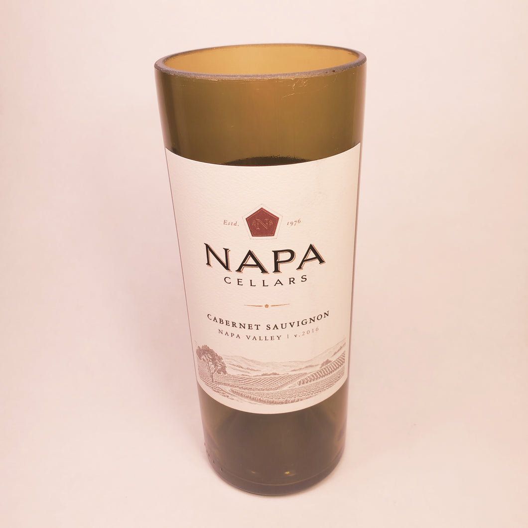 Napa Cellars Cabernet Sauvignon 2016 Hand Cut Upcycled Wine Bottle Candle - Choose Your Scent