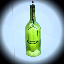 Load image into Gallery viewer, Hand-cut wine bottle hanging lantern