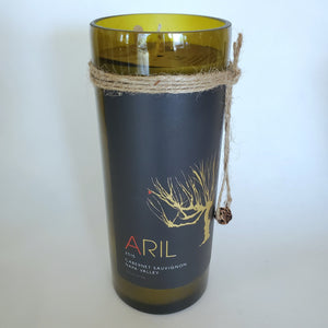 Aril Cabernet Sauvignon 2015 Upcycled Wine Bottle Candle - Scent - Cabernet Sauvignon