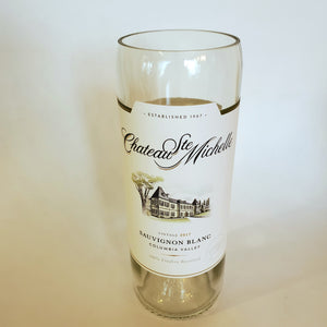 Chateau Ste Michelle Sauvignon Blanc Hand Cut Upcycled Wine Bottle Candle - Choose Your Scent