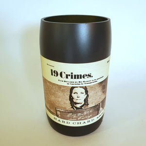 19 Crimes Hard Chard Hand Cut Upcycled Wine Bottle Candle - Choose Your Scent