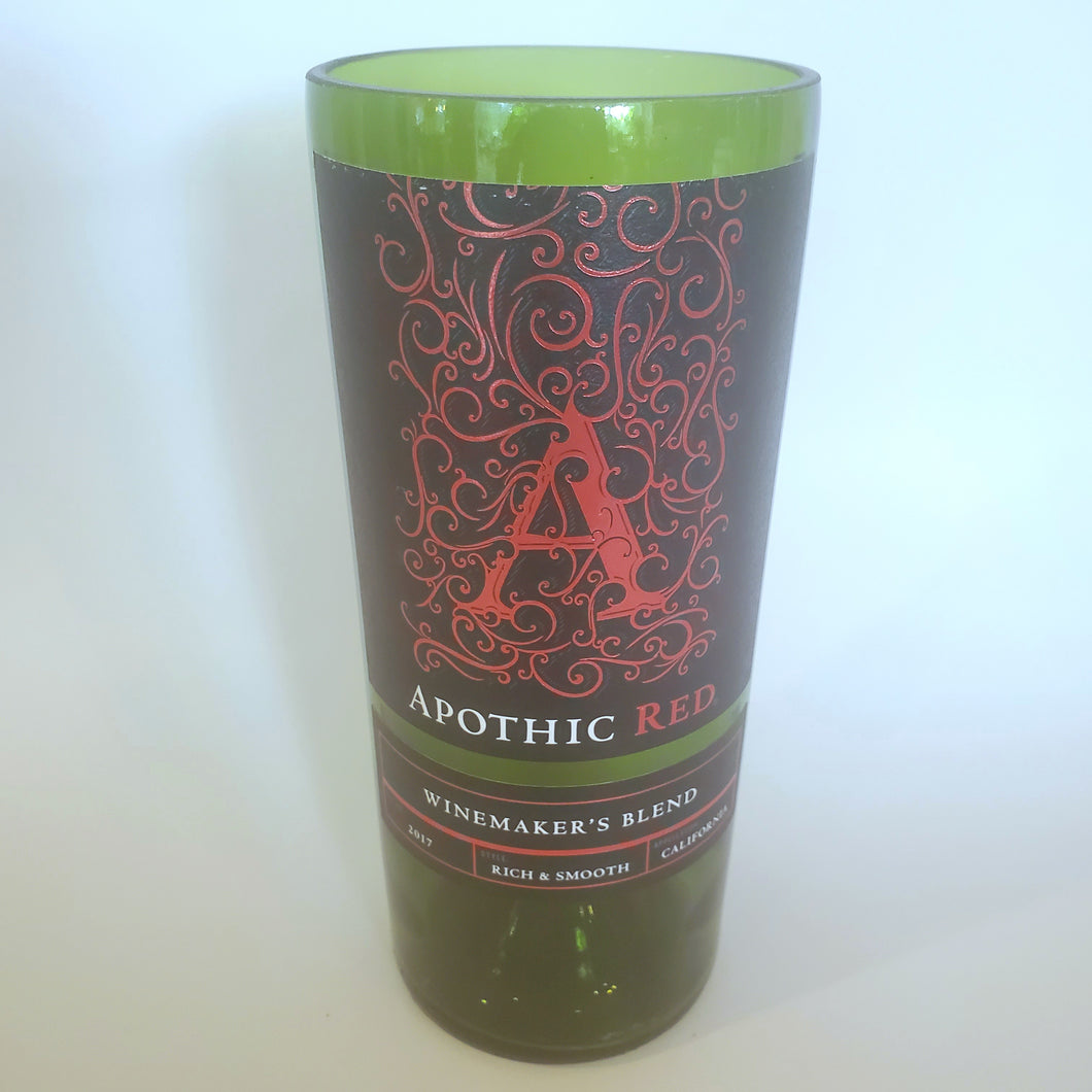 Apothic Red Hand Cut Upcycled Wine Bottle Candle - Choose Your Scent