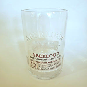 Aberlour Scotch Whisky 750ml Hand Cut Upcycled Liquor Bottle Candle  - Choose Your Scent