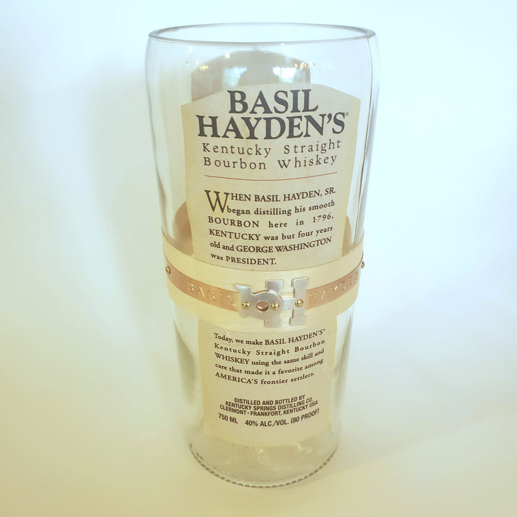 Basil Hayden's Whiskey - 750ml Hand Cut Upcycled Liquor Bottle Candle  - Choose Your Scent