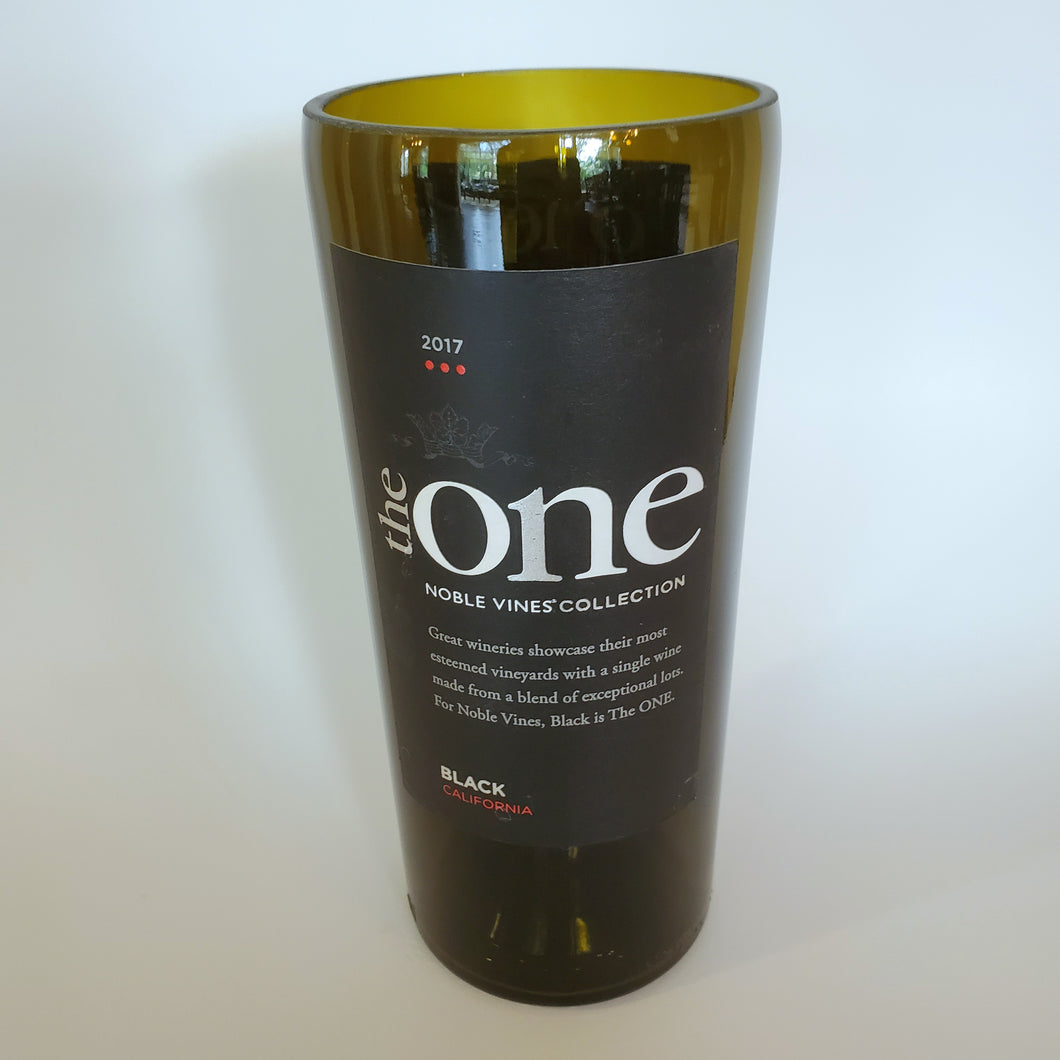The One Hand Cut Upcycled Wine Bottle Candle - Choose Your Scent