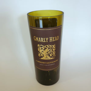 Gnarly Head Cabernet Sauvignon Hand Cut Upcycled Wine Bottle Candle - Choose Your Scent