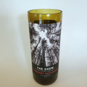 The Show Cabernet Sauvignon Hand Cut Upcycled Wine Bottle Candle - Choose Your Scent