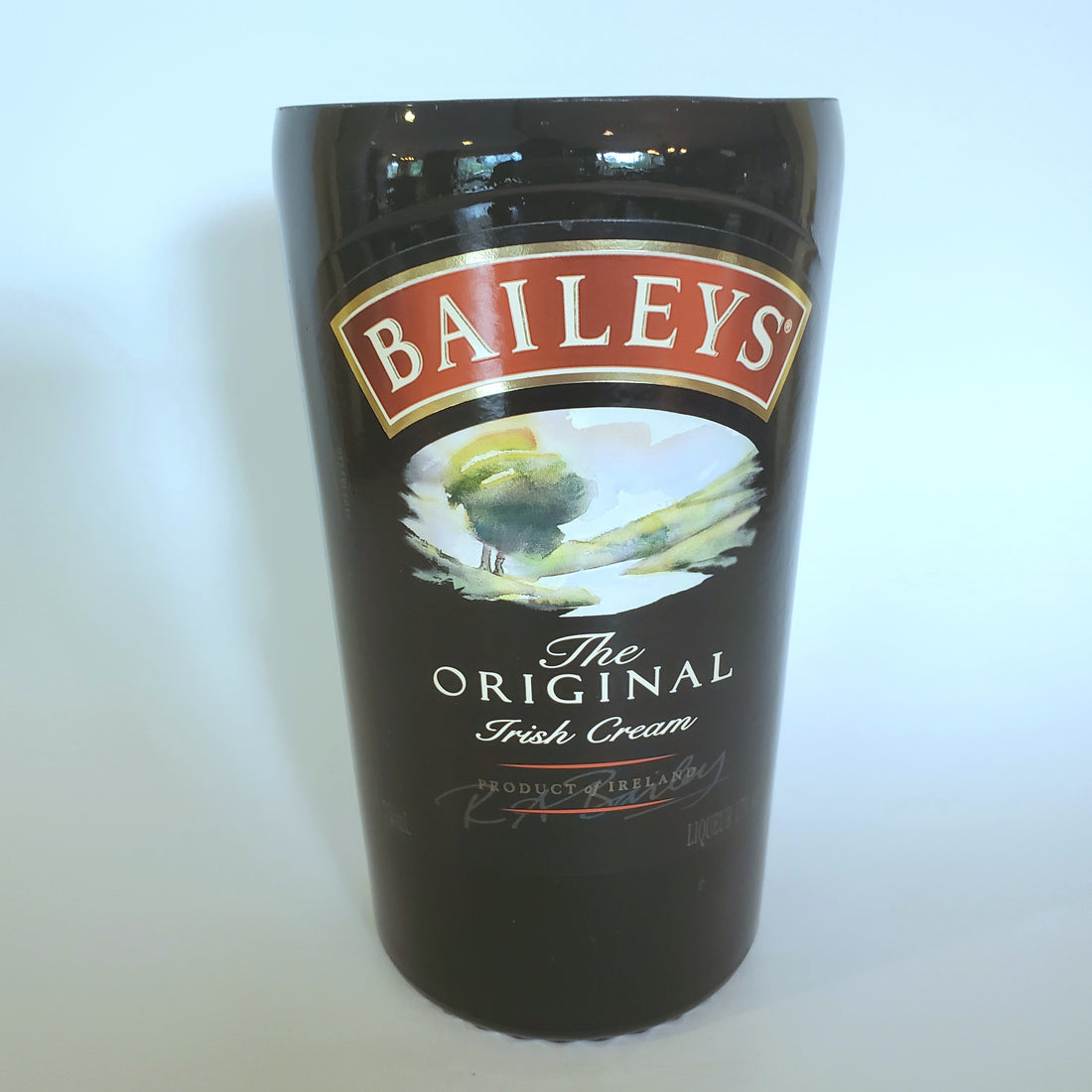 Baileys Irish Cream 750ml Hand Cut Upcycled Liquor Bottle Candle  - Choose Your Scent