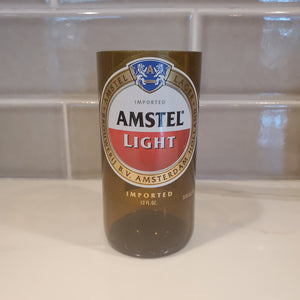 Amstel Light Hand Cut Upcycled Beer Bottle Candle - Choose Your Scent
