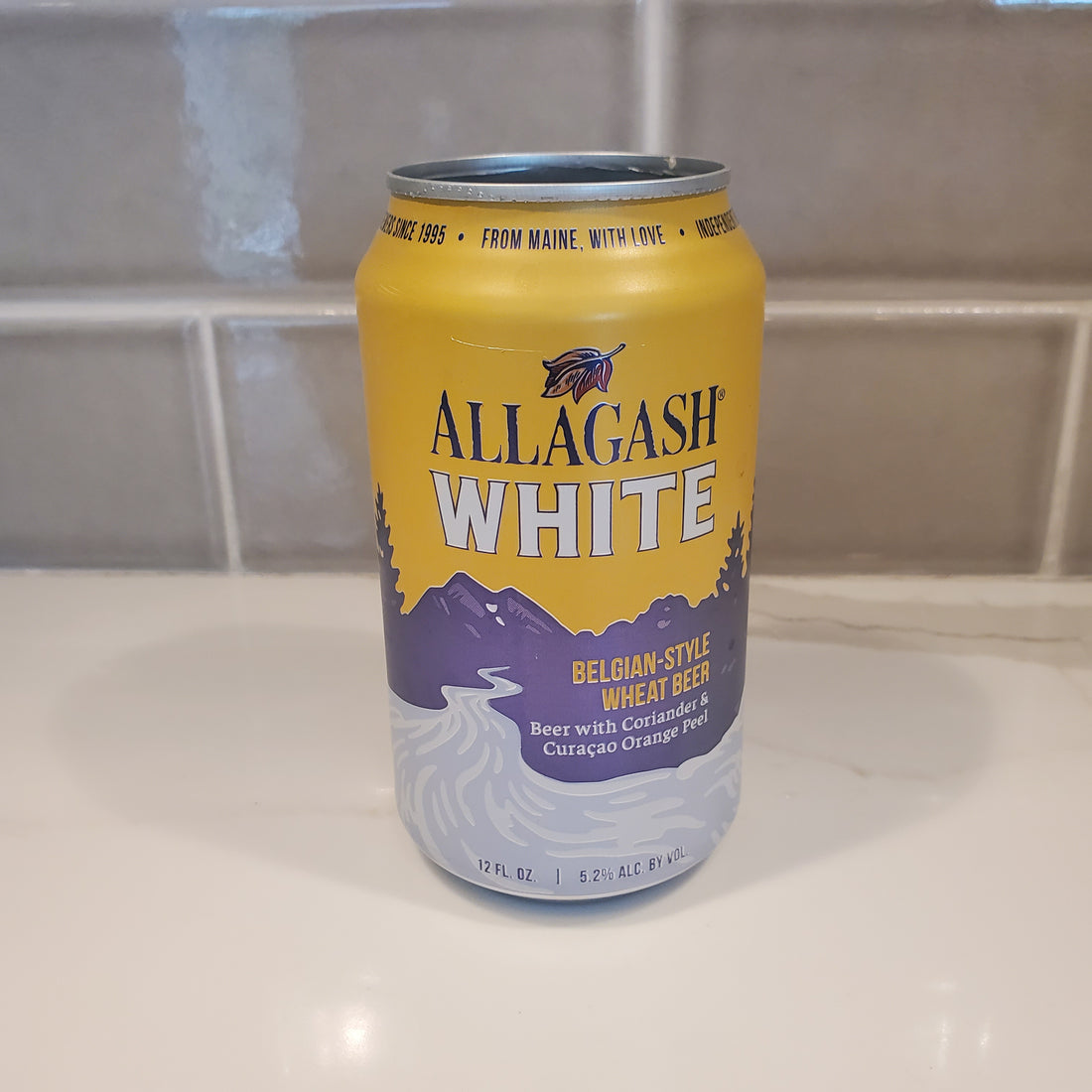 Allagash White Beer Can Candle - Choose Your Scent