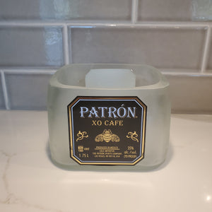 Patron XO Cafe 1.75L Hand Cut Upcycled Liquor Bottle Candle  - Choose Your Scent