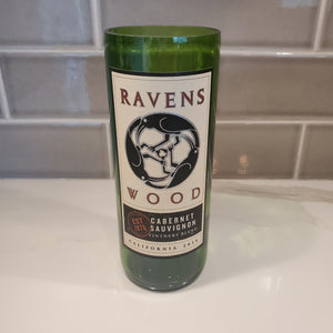 Ravens Wood Cabernet Sauvignon Hand Cut Upcycled Wine Bottle Candle - Choose Your Scent