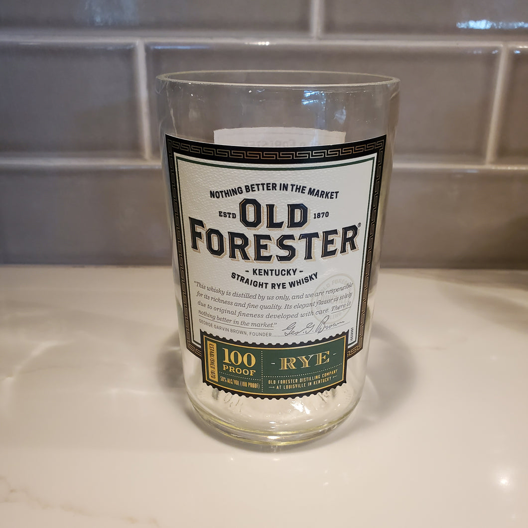 Old Forester Rye Whisky   - 750ml Hand Cut Upcycled Liquor Bottle Candle  - Choose Your Scent