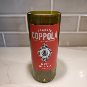 Francis Coppola Red Blend Hand Cut Upcycled Wine Bottle Candle - Choose Your Scent