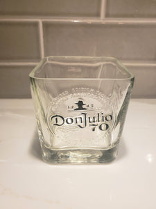 Don Julio 70th Anniversary - 750ml Hand Cut Upcycled Liquor Bottle Candle  - Choose Your Scent