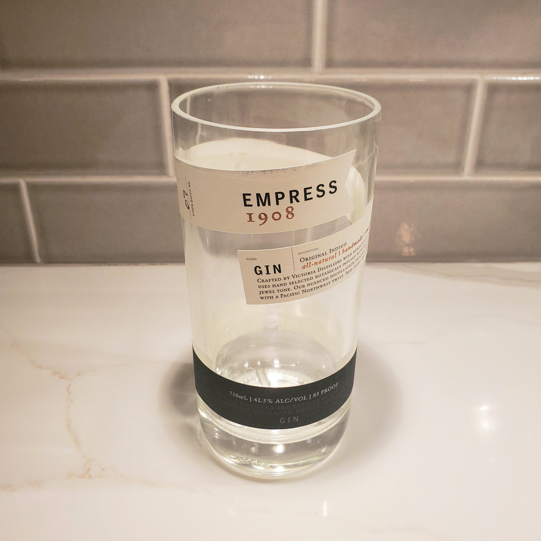 Empress 1908 Gin 750ml Hand Cut Upcycled Liquor Bottle Candle  - Choose Your Scent