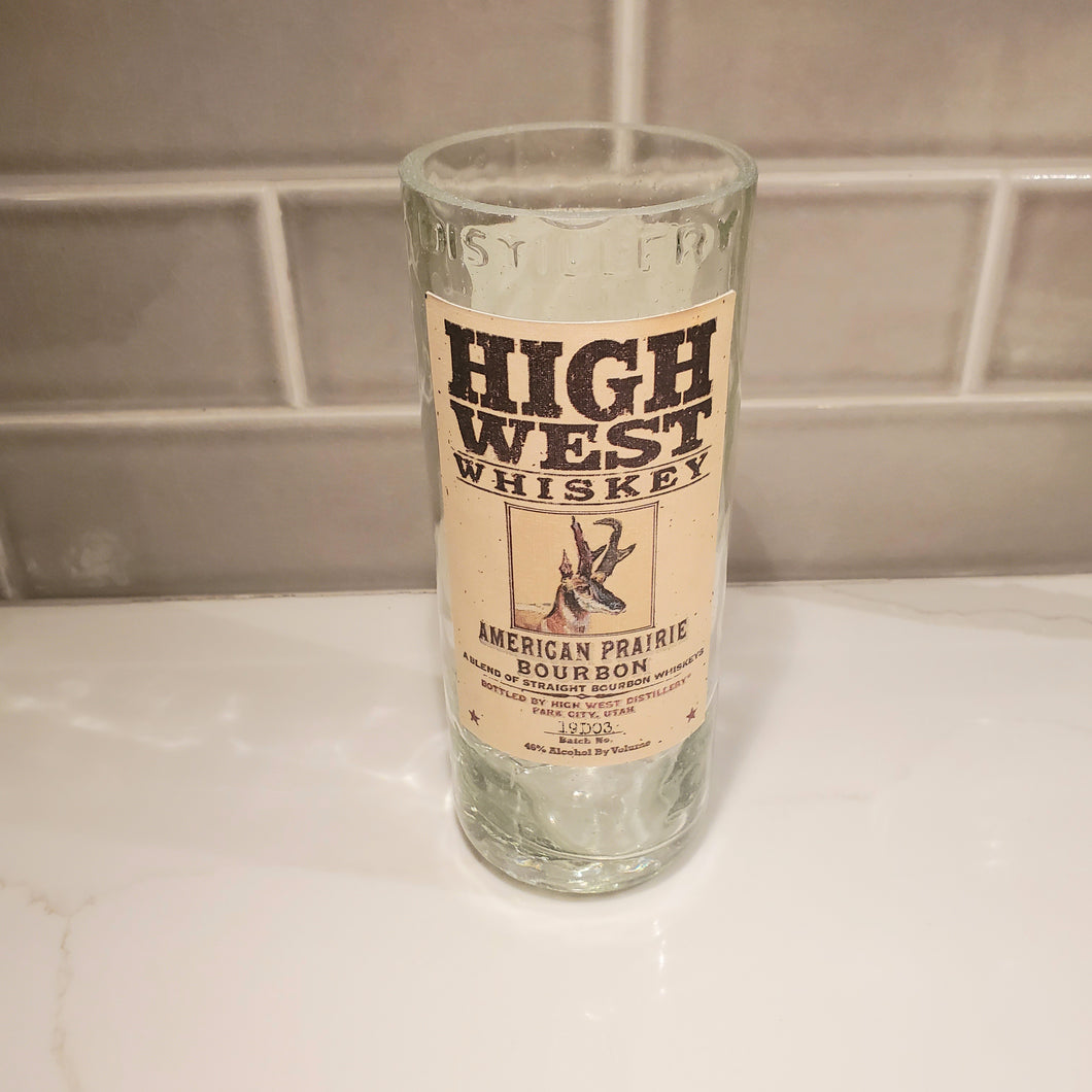 High West Whiskey - 750ml Hand Cut Upcycled Liquor Bottle Candle  - Choose Your Scent