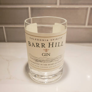 Barr Hill Gin - 750ml Hand Cut Upcycled Liquor Bottle Candle  - Choose Your Scent
