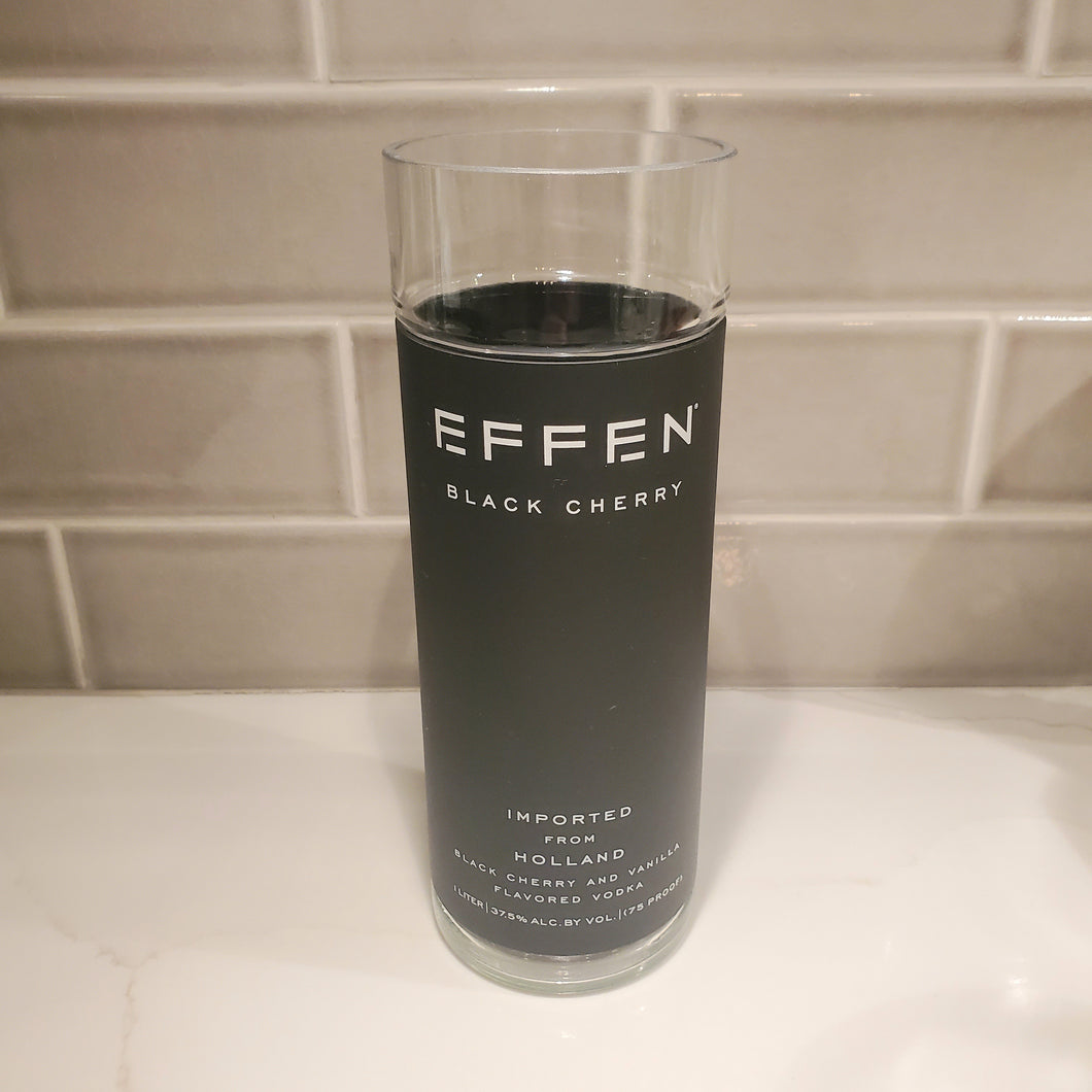 Effen Black Cherry Vodka 1L Hand Cut Upcycled Liquor Bottle Candle  - Choose Your Scent