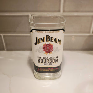 Jim Beam 1L Hand Cut Upcycled Liquor Bottle Candle  - Choose Your Scent