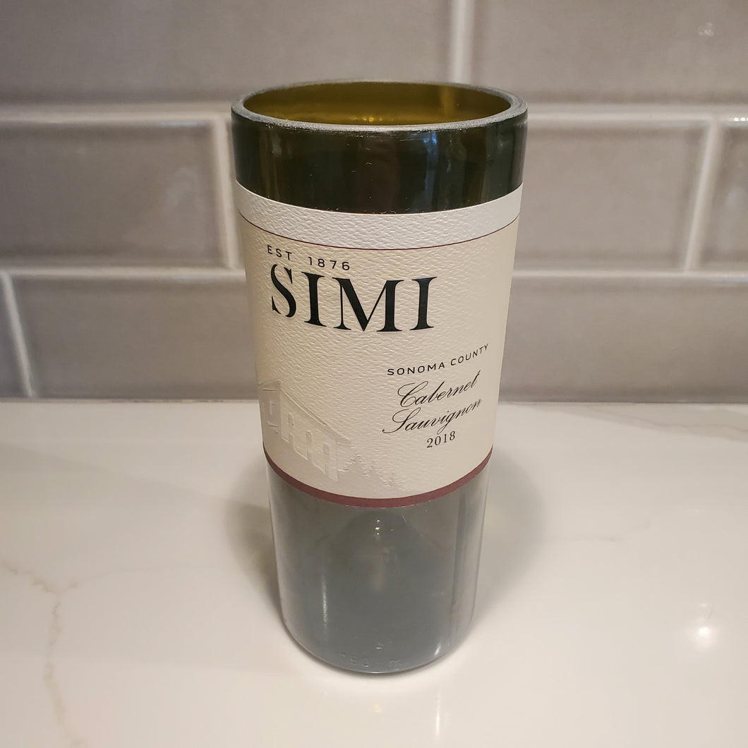 Simi Cabernet Wine Hand Cut Upcycled Wine Bottle Candle - Choose Your Scent