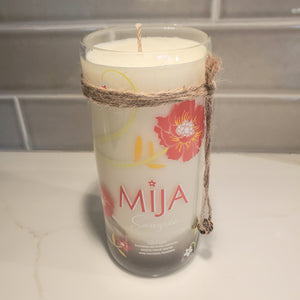 Mija Sangria 750ml Hand Cut Upcycled Liquor Bottle Candle - Scent - Mango & Coconut Milk
