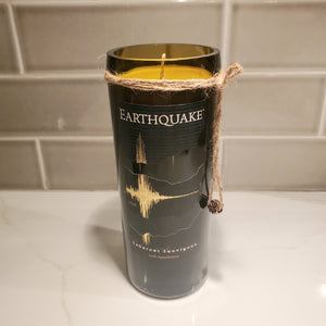 Earthquake Upcycled Wine Bottle Candle - Scent - Cabernet Sauvignon