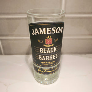 Jameson Black Barrel Irish Whiskey 750ML Hand Cut Upcycled Liquor Bottles Candle - Choose Your Scent
