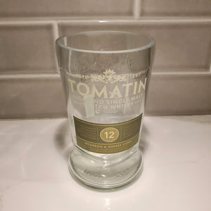 Tomatin Scotch Whisky 750ML Hand Cut Upcycled Liquor Bottle Candle - Choose Your Scent