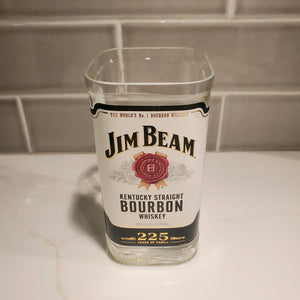 Jim Beam Whiskey - 750ml Hand Cut Upcycled Liquor Bottle Candle  - Choose Your Scent