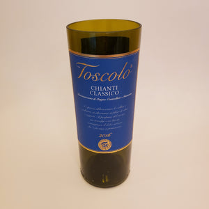 Toscola Chianti Hand Cut Upcycled Wine Bottle Candle - Choose Your Scent