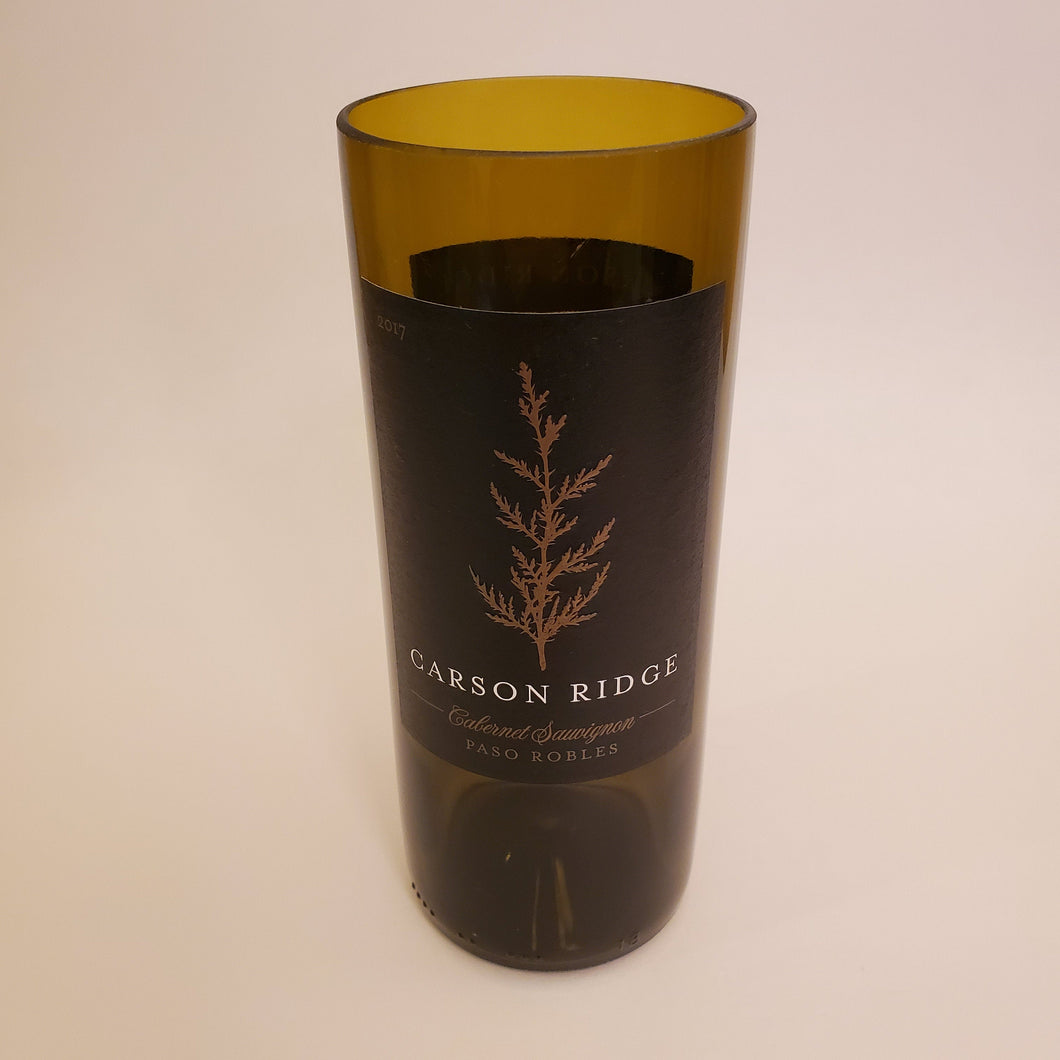 Carson Ridge Hand Cut Upcycled Wine Bottle Candle - Choose Your Scent