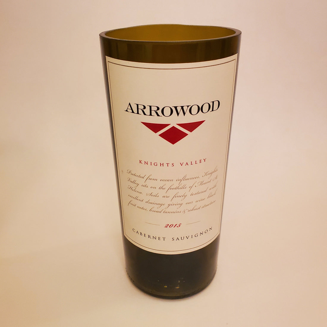 Arrowood Hand Cut Upcycled Wine Bottle Candle - Choose Your Scent