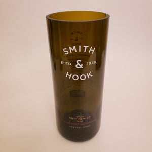 Smith & Hook Hand Cut Upcycled Wine Bottle Candle - Choose Your Scent