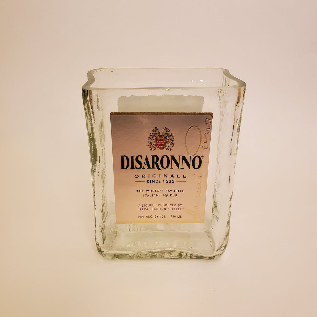 Disaronno 750ML Hand Cut Upcycled Liquor Bottle Candle  - Choose Your Scent