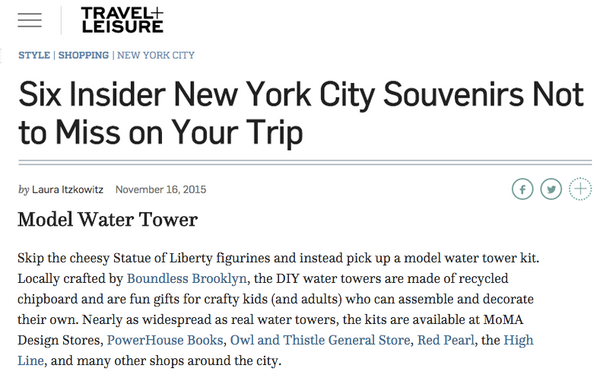 Travel + Leisure Boundless Brooklyn Top 6 NYC Gifts