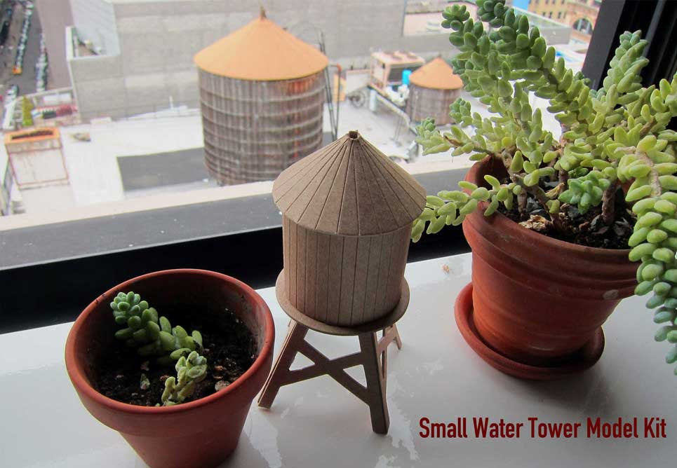 Boundless Brooklyn DIY small water tower model kit