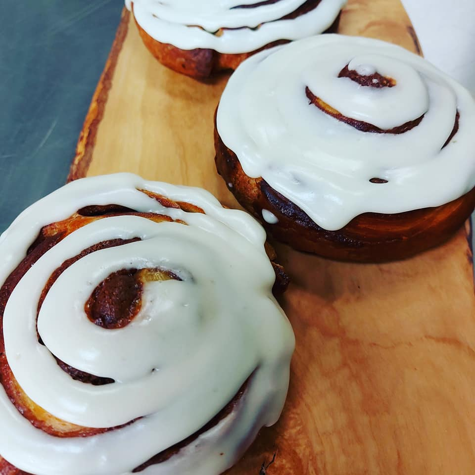 Gourmet Cinnamon Rolls with Cream Cheese Icing - Pack of Two