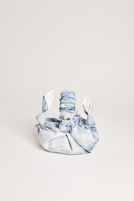 Denim furoshiki bag