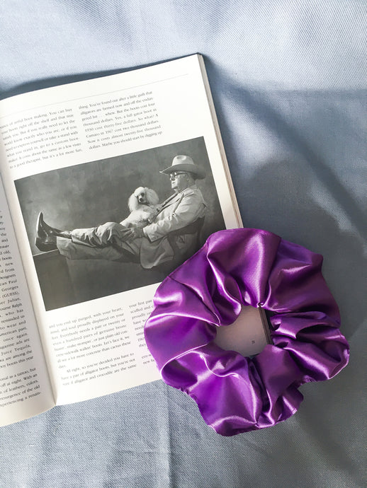 Mellisa scrunchie in bright purple
