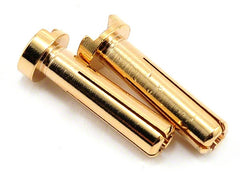 4mm Gold Bullet connectors (2 pcs)