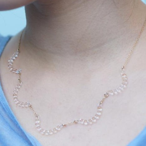 "Water Drop ""R"" Necklace"