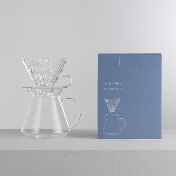 [Simply Hario Series] V60 Glass Dripper & Server Set