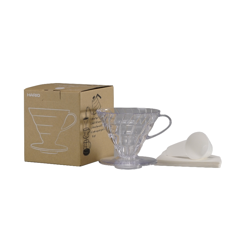 V60 Plastic Dripper Set Transparent