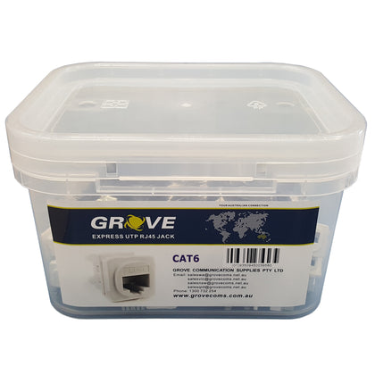 Jacks Cat6 White (Tub of 100)