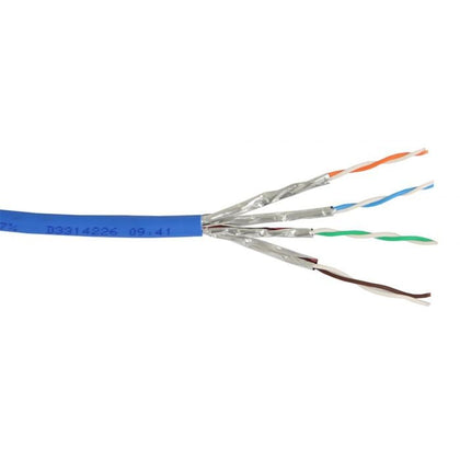 Cat6a Blue Solid PVC