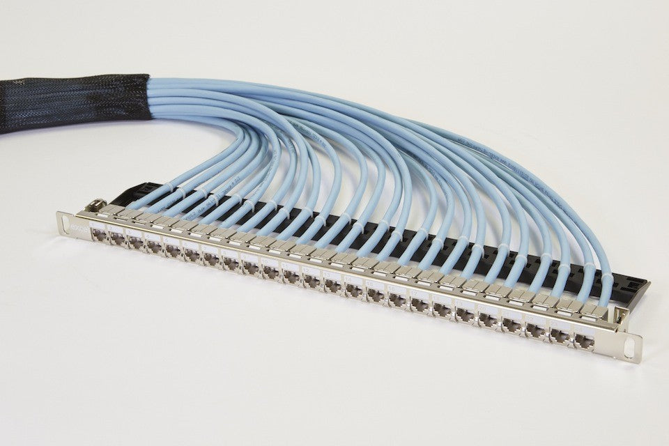 20M CAT6A Pre-Terminated Panel RJ45 S/FTP