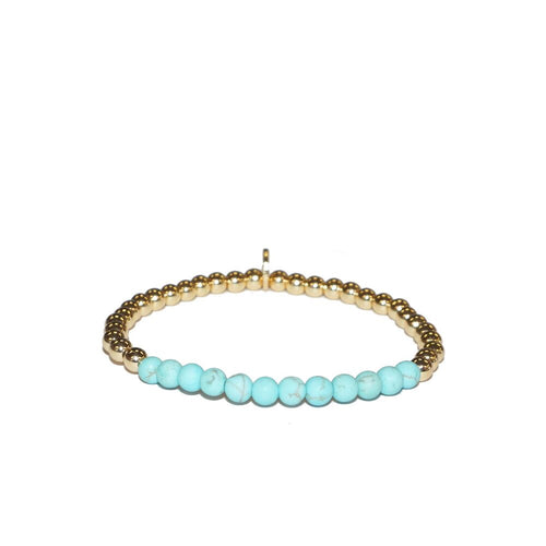 Skinny Natural Stone Stretch Bracelet
